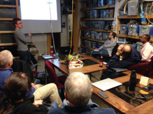 Markus teaches DIY Bio group about CRISPR